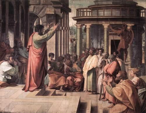 St Paul Preaching in Athens by Raffaello Sanzio,  1515